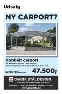 Dobbelt Carport Tilbud - Oktober 2017